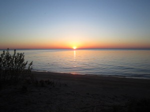 Sunset on Pelee Island
