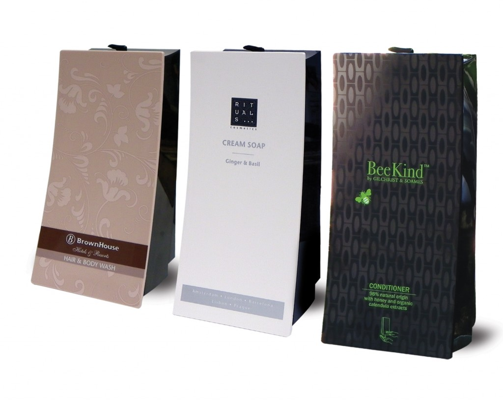 wave brownhouse rituals and beekind custom faceplate dispensers on white background dispenser amenities