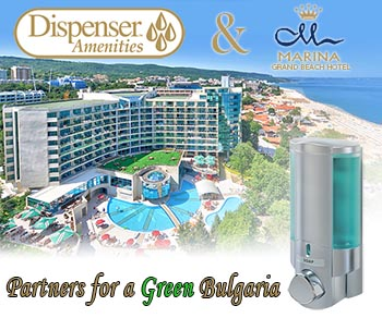 dispenser amenities and marina grand beach hotel partners for a green bulgaria