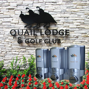 quail lodge golf club dispenser amenities
