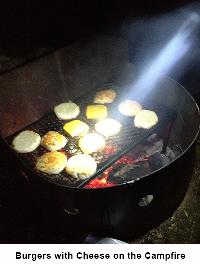 Burgers on the campfire1 image