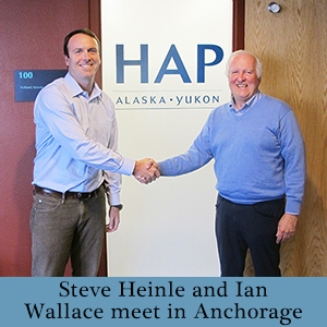 steve heinle and ian wallace meet in anchorage HAP dispenser amenities