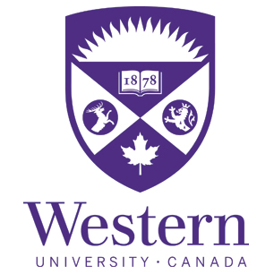 Western university canada purple logo on white background dispenser amenities