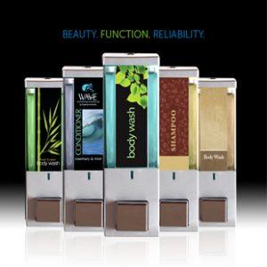 iQon dispensers beauty function reliability black background dispenser amenities