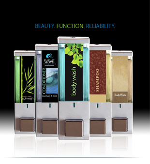 iQon dispensers beauty function reliability black background dispenser amenities