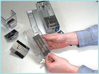 iQon faceplate for dispensers