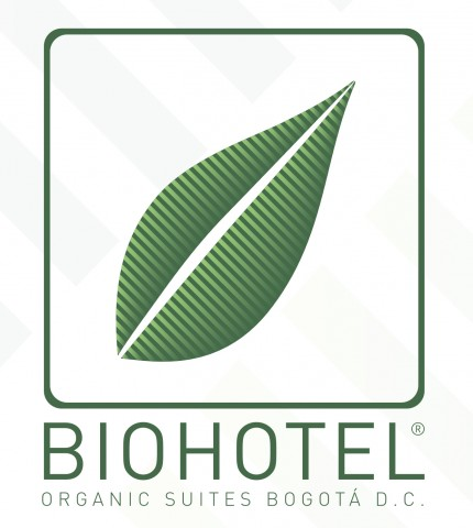 Bio Hotel Columbia organic suites bogota D.C. logo green on white background dispenser amenities