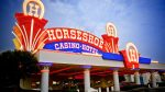 horseshoe casino and hotel front signage and entrance dispenser amenities