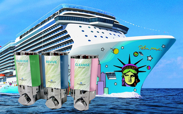 Norwegian Cruise Dispensers