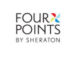 Four points by Sheraton logo black text on white background dispenser amenities