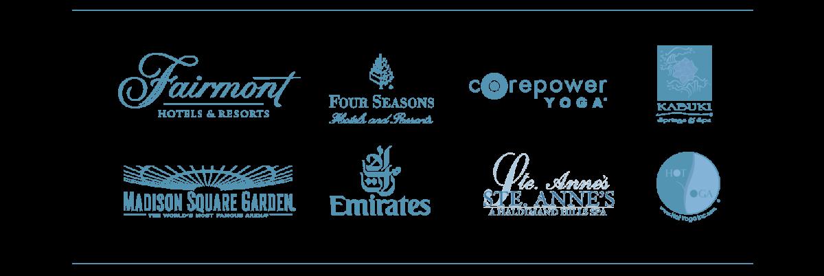 fairmont four seasons corepower yoga kaburi madison square garden emirates ste annes hot yoga logos blue on transparent background dispenser amenities