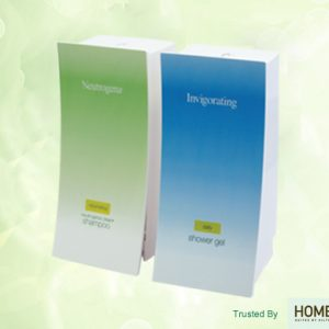 neutrogena shampoo invigorating shower gel wave dispensers on green background trusted by home2 suites by hilton dispenser amenities