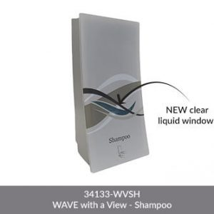 wave shampoo dispenser new clear liquid window 34133-WVCO WAVE with a view - shampoo on white background dispenser amenities