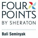 four points by sheraton bali seminyak logo on white background dispenser amenities