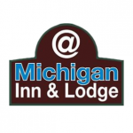 @ michigan inn and lodge logo on white background dispenser amenities