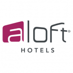 aloft hotels logo on white background dispenser amenities