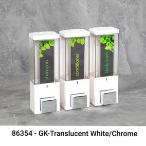 Iqoniii white translucent black wave & waveview dispensers image